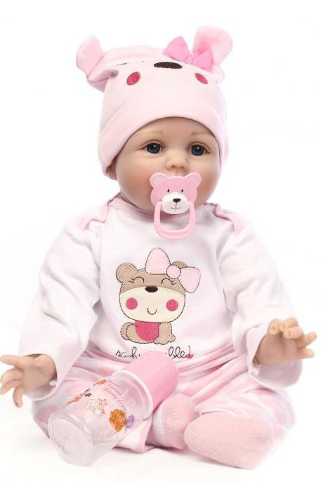 lifelike dolls for sale baby Reborn Dolls Lifelike girls Baby Gift Emulation Doll 22 inches Pink Clothes included